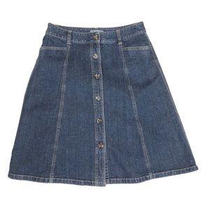 Ann Taylor Skirts - Ann Taylor size 6 Denim Skirt with Pockets